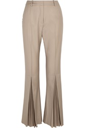 Jonathan Saunders Polly Pleated Wool Flared Pants
