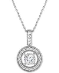Trumiracle Diamond Halo Pendant Necklace 1 2 Ct. T.W. In 14K White Gold