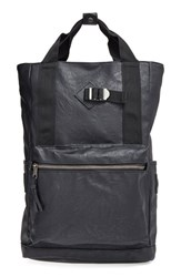 Men's Topman Faux Leather Convertible Backpack