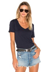 Atm Anthony Thomas Melillo V Neck Tee Navy