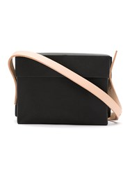 Gloria Coelho Plastic Bag With Leather Straps Black