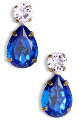 Sorrelli Teardrop Crystal Earrings Blue