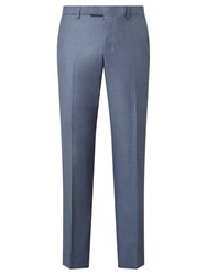 John Lewis Woven In Italy Sharkskin Tailored Suit Trousers Ice Blue