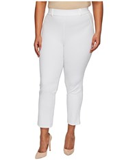 Hue Plus Size Little Black Cropped Treggings White Women's Casual Pants