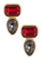 14Th And Union Multi Stone Stud Earrings Red