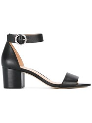 Michael Michael Kors Ankle Strap Sandals Women Leather 6.5 Black