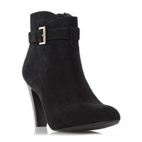 Linea Odesa Buckle Strap Ankle Boots Black