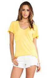 Bobi Light Weight Jersey Pocket Tee Yellow