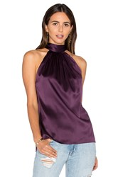 Ramy Brook Paige Tie Neck Tank Purple