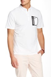 Ag Jeans Green Label The Cup Short Sleeve Polo White