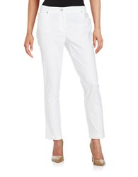 Rafaella Petite Slim Ankle Pants White