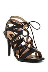 Elegant Footwear Elina Lace Up Sandal Black