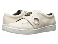 Calvin Klein Danette Soft White Leather Women's Wedge Shoes