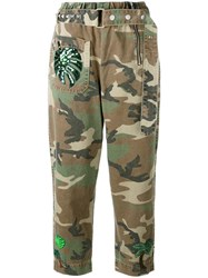 Marc Jacobs Camouflage Print Belted Trousers Green