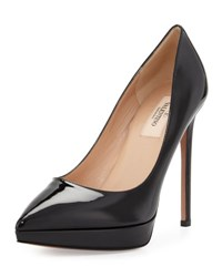 Valentino Leather Pointed Toe Platform Pump 0No