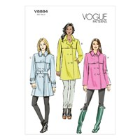 Vogue Women's Coat And Belt Sewing Pattern 8884