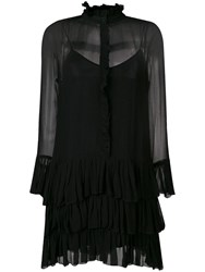 Zadig And Voltaire Sheer Ruffle Dress Black