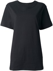 Ann Demeulemeester Blanche Embroidered Back T Shirt Black