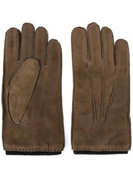 Orciani Exposed Seam Gloves Nude Neutrals