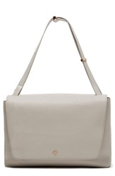 Dagne Dover Simone Leather Satchel Grey Bone