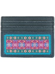 Etro Printed Card Holder Blue