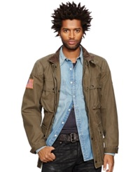 Denim And Supply Ralph Lauren Waxed Cotton Moto Jacket Old Money