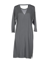 Rossopuro Dresses Short Dresses Women Grey