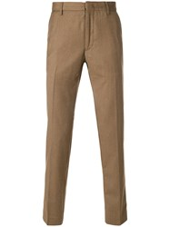 Pence Classic Chinos Cashmere Virgin Wool Brown