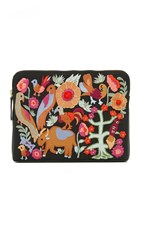 Lizzie Fortunato Folk Safari Clutch Black Multi
