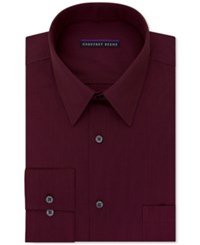 Geoffrey Beene Men's Big And Tall Classic Fit Wrinkle Free Bedford Cord Solid Dress Shirt Scarlet