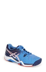 Women's Asics 'Gel Resolution 5' Tennis Shoe Powder Blue White