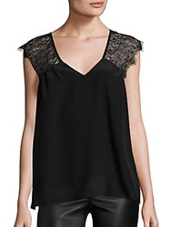 Set Silk And Lace Blouse Black