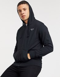 Schott Hooded Zip Through Sweat In Black