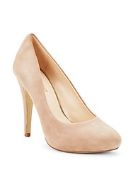 Nine West Solid Leather High Heel Pumps Natural