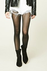 Forever 21 Classic Opaque Tights Black