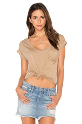 Bobi Pima Cotton Pocket Tee Tan