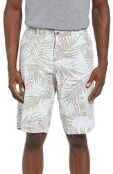 Original Paperbacks Men's Havana Print Linen Shorts Waterfall