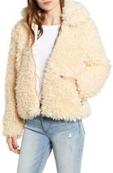 Obey Shay Faux Fur Bomber Jacket Mink