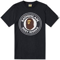 A Bathing Ape Vintage Washed Busy Works Tee Black