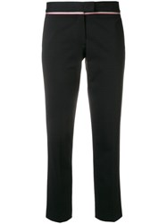 Paul Smith Ps By Cigarette Cropped Trousers Black