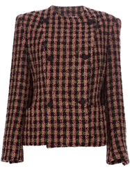 Gianfranco Ferre Vintage Checked Double Breasted Jacket Black