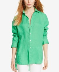 Polo Ralph Lauren Linen Shirt Cycle Green