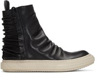 D.Gnak By Kang.D Black Lace Up Back High Top Sneakers