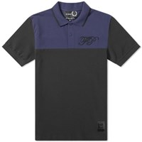 Raf Simons X Fred Perry Embroidered Initial Pique Polo Black
