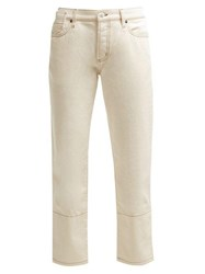 Marni Mid Rise Cropped Jeans Cream