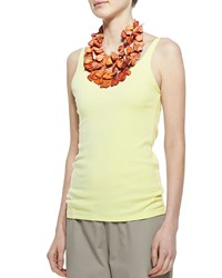 Eileen Fisher Organic Cotton Long Slim Tank Petite Women's Daisy