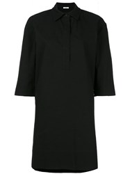 P.A.R.O.S.H. Concealed Fastening Shirt Dress Black