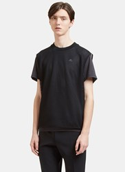 Adidas By Kolor Climachill Layered Mesh T Shirt Black