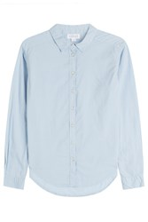 Velvet Cotton Shirt Blue