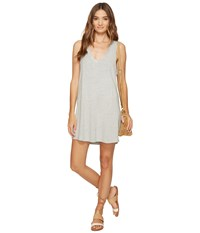 Bb Dakota Eartha Lightweight French Terry Dress Light Grey Women's Dress Gray